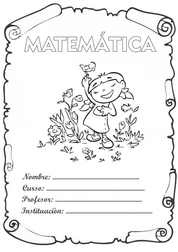 Caratula De Matemáticas Los Mejores Diseños Del 2019