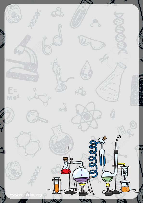 caratulas para quimica