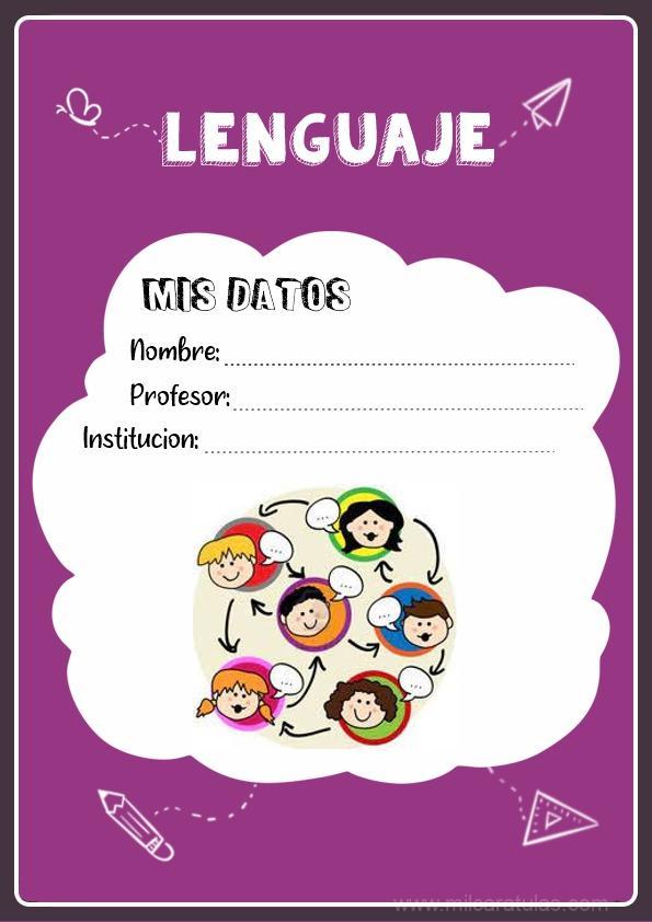 caratulas para cuadernos de lenguaje