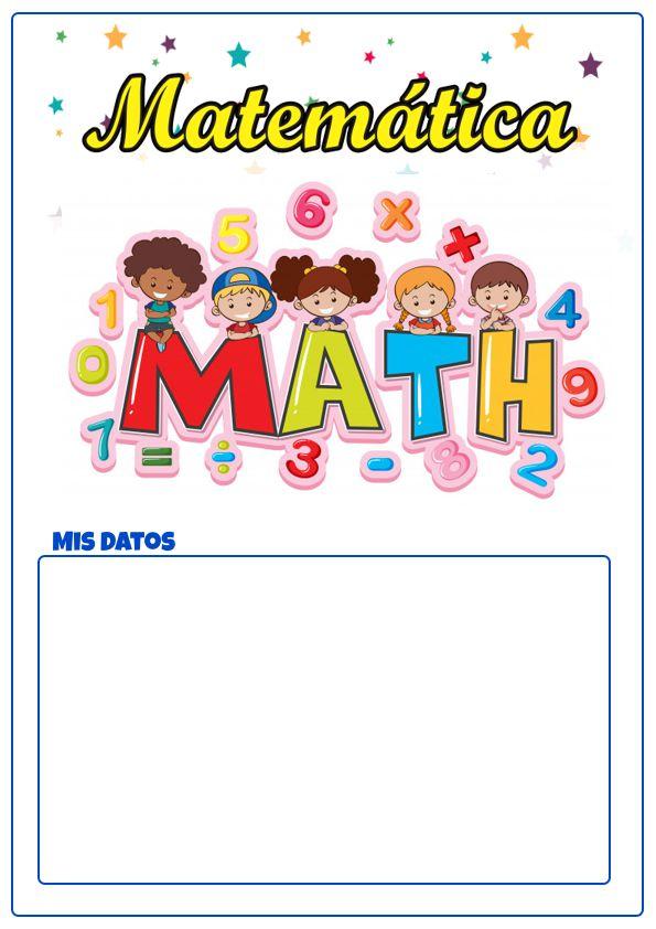 cartulas de matematicas