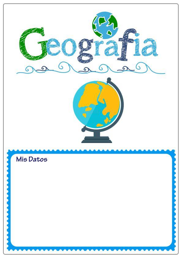 caratula de geografía