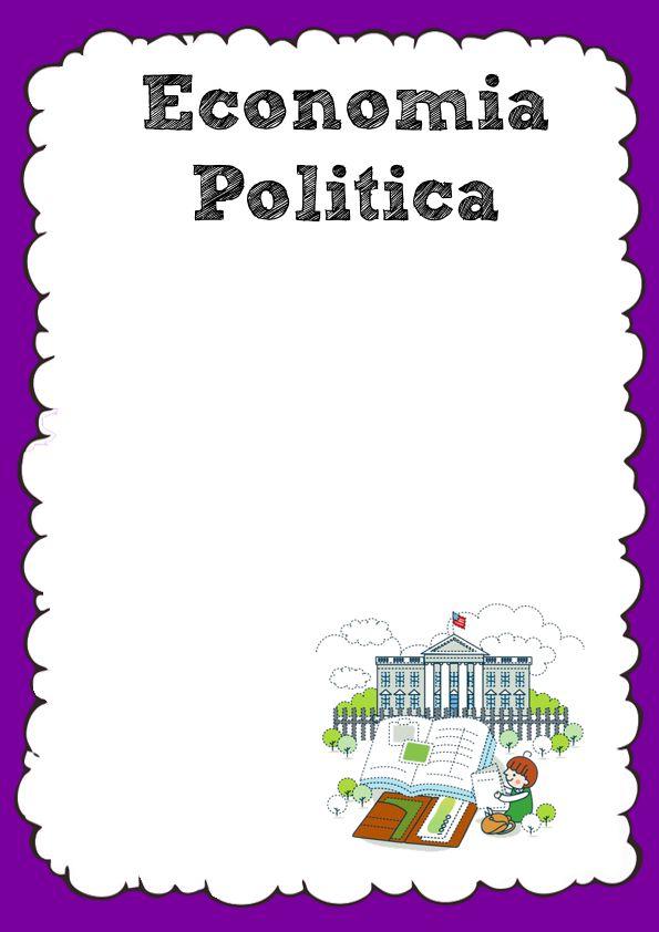 Caratula de Economía Política