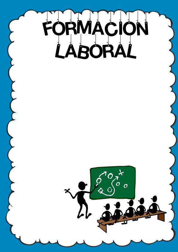 Caratulas de Formación Laboral