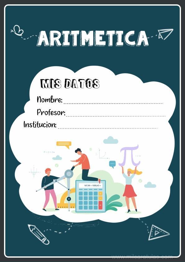 caratulas para cuadernos de aritmetica