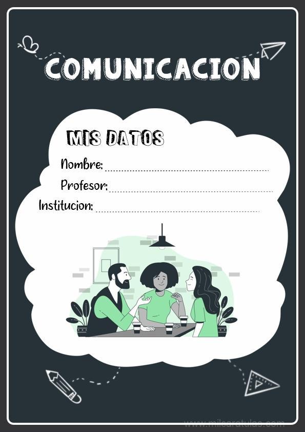 caratulas para cuadernos de comunicación