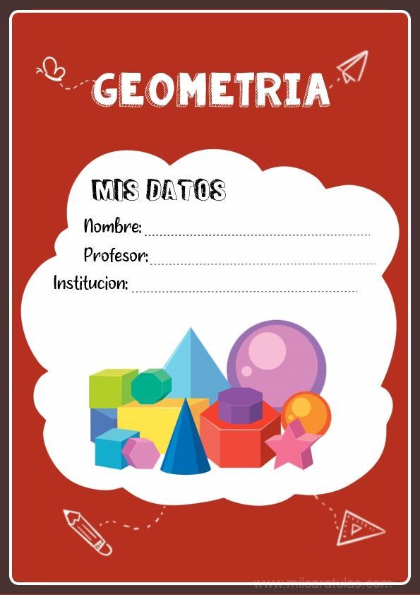caratulas para cuadernos de geometría