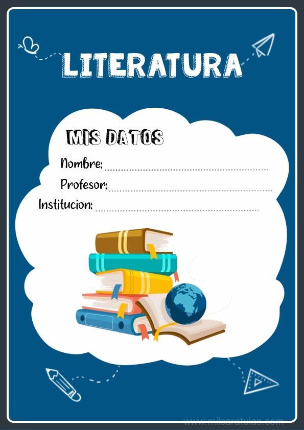 caratulas para cuadernos de Literatura
