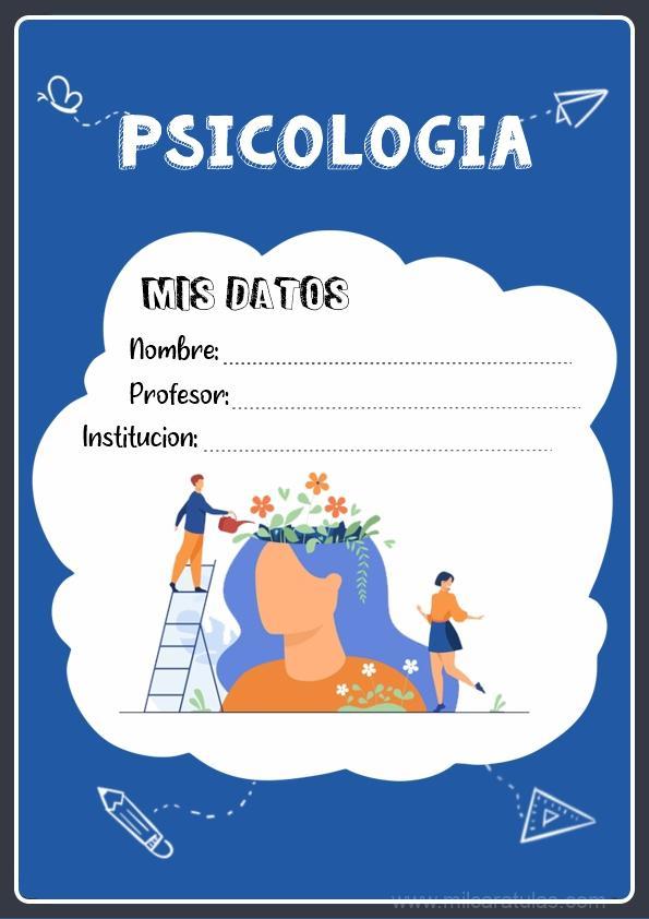 caratulas para cuadernos de psicología