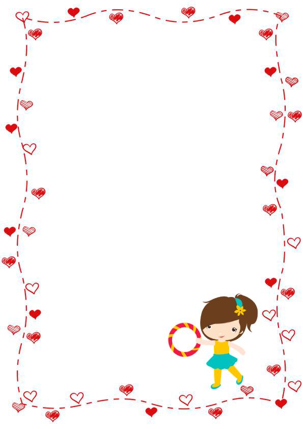 margenes de corazones