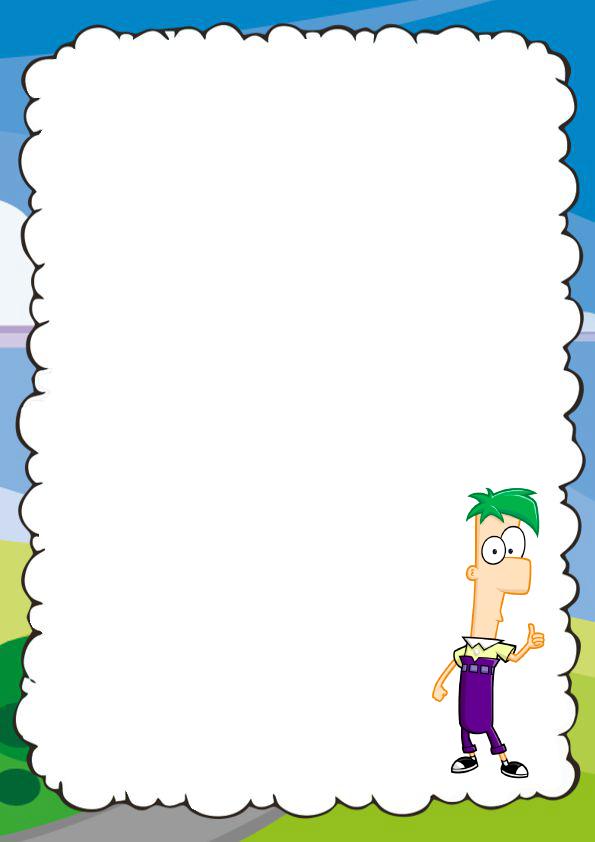 caratulas para cuadernos de Phineas y Ferb
