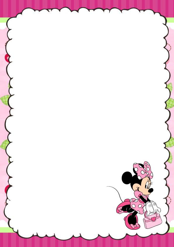 Caratulas para cuaderno de Minnie Mouse