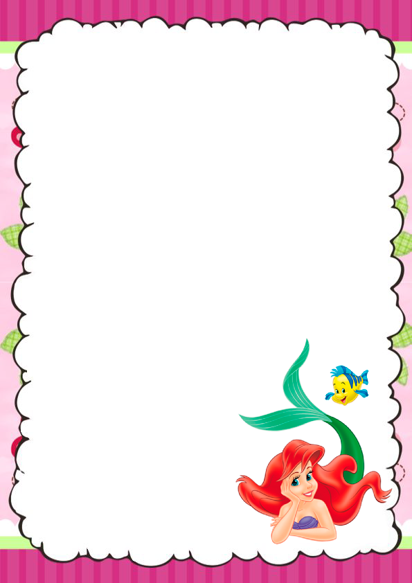 caratulas para cuadernos La Sirenita
