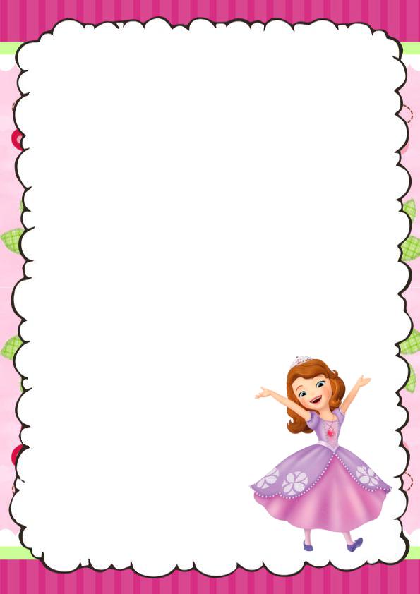 caratulas para cuadernos Princesita Sofia