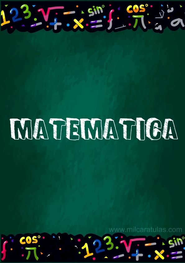 portadas para matematicas