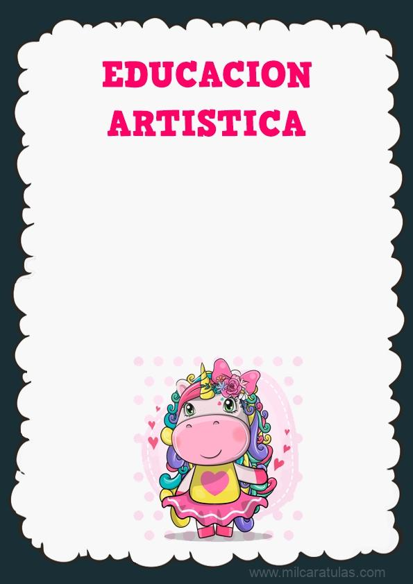 caratula de educacion artistica