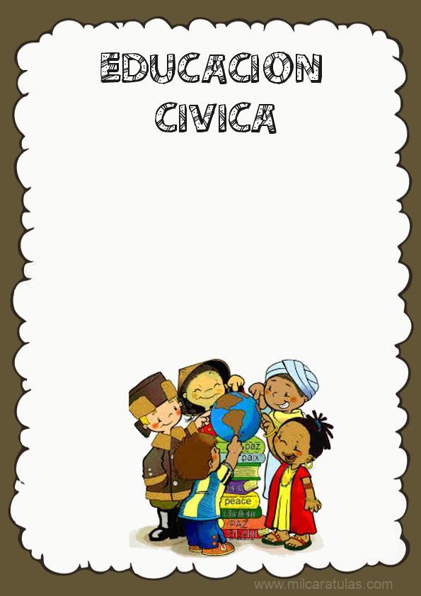 caratula de educacion civica