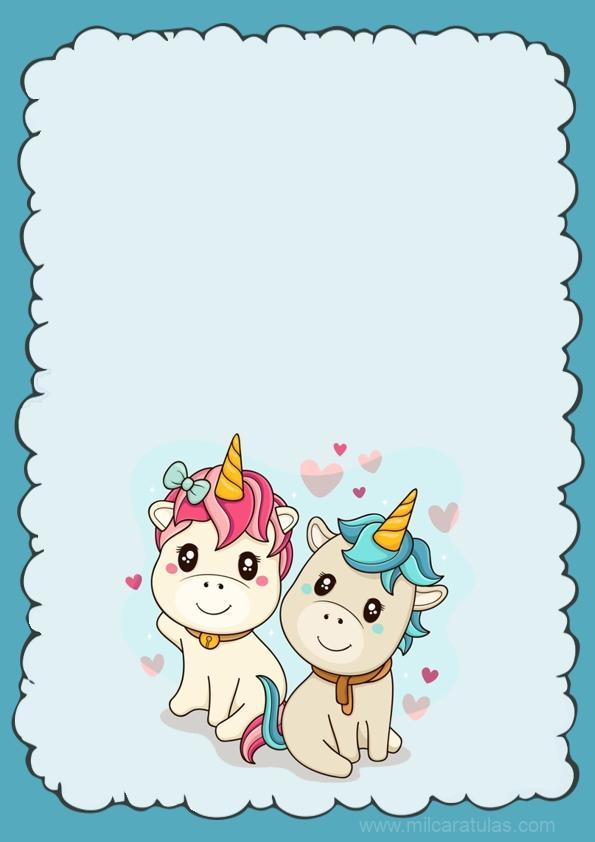 caratula de unicornios