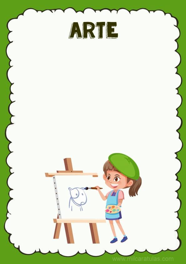 caratula para cuaderno de arte