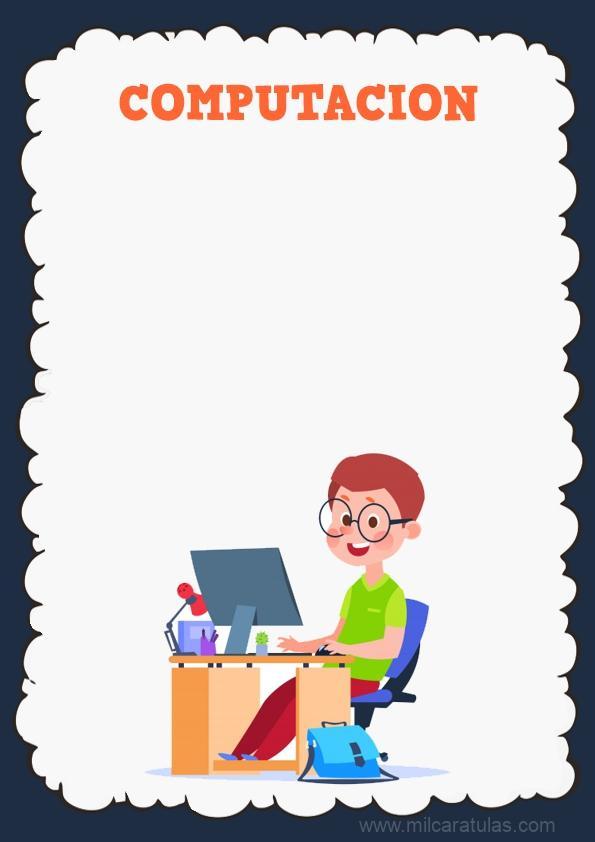 caratula para cuaderno de computacion