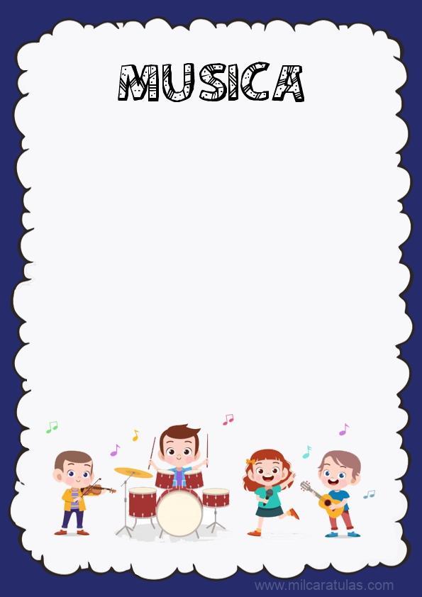 caratula para cuaderno de musica