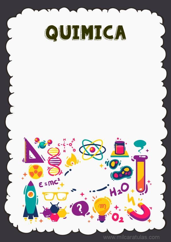 caratula para cuaderno de quimica