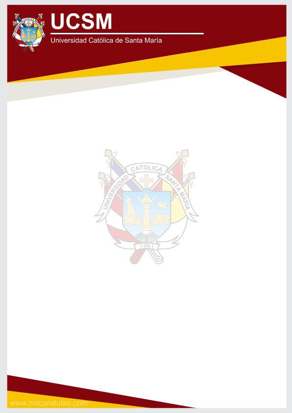 Caratula de Universidad Católica de Santa María UCSM