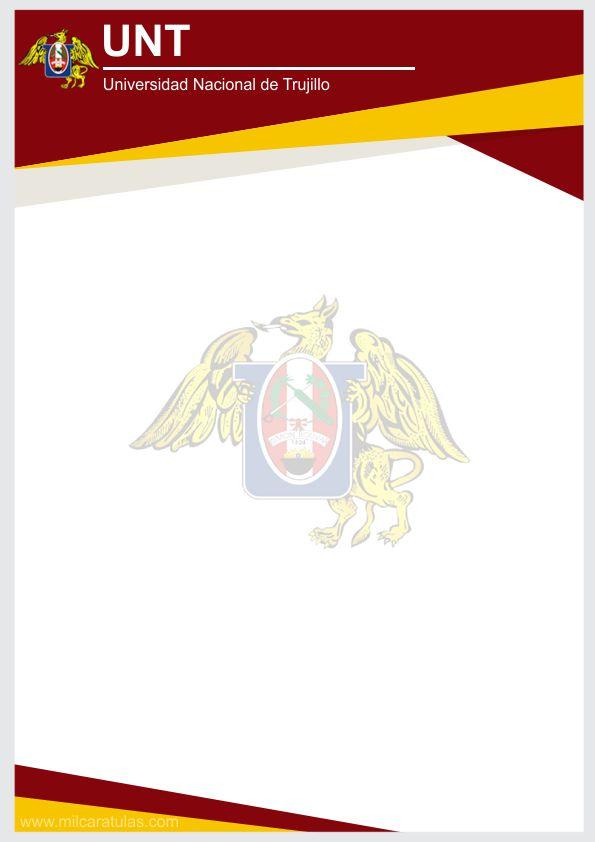 Caratula de Universidad Nacional de Trujillo UNT