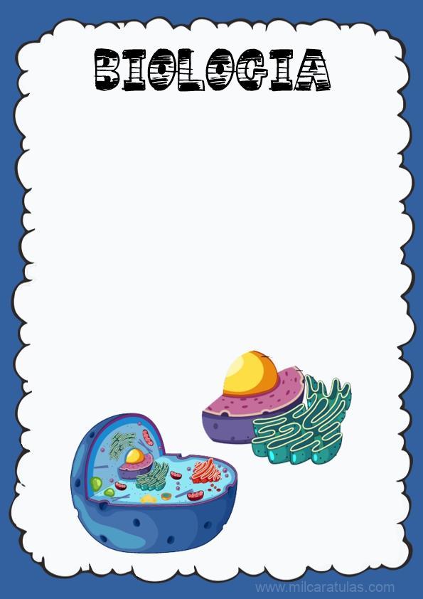 caratula para cuaderno de biologia