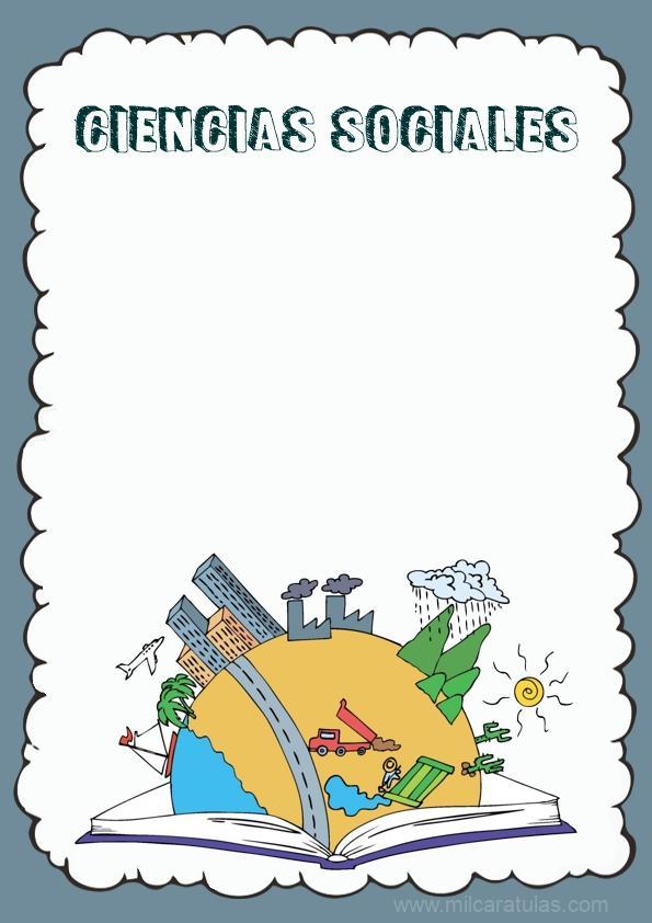 caratula para cuaderno de ciencias sociales