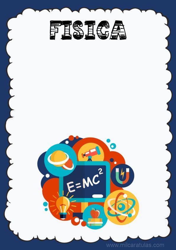 caratula para cuaderno de fisica