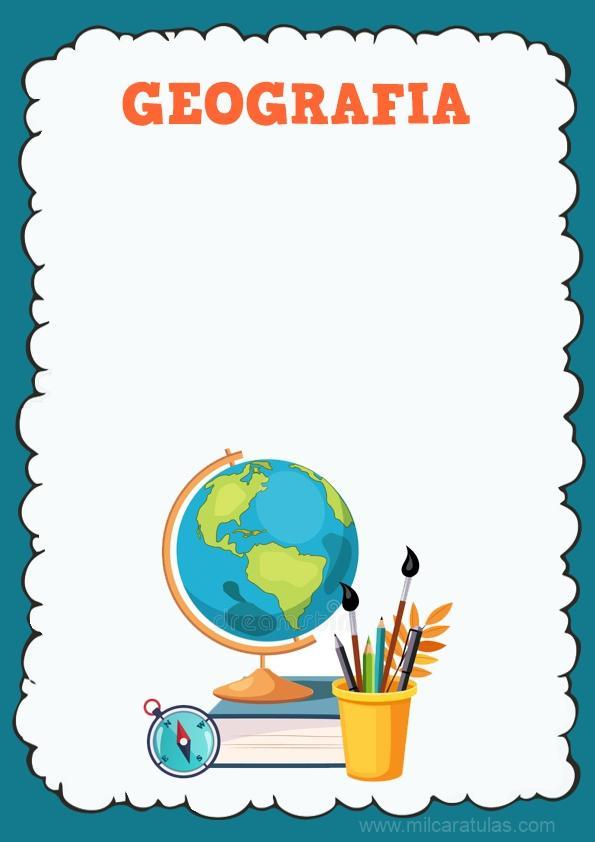 caratula para cuaderno de geografia