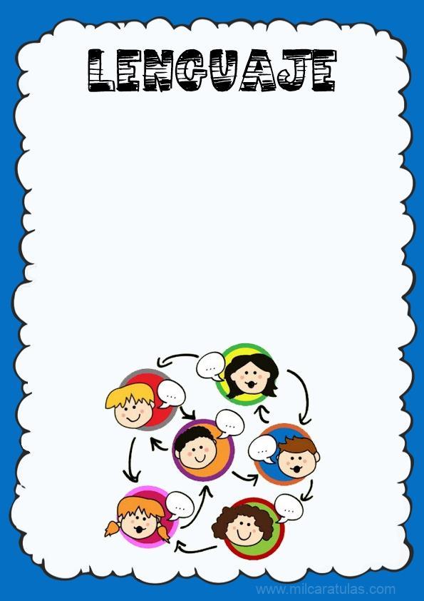 caratula para cuaderno de lenguaje