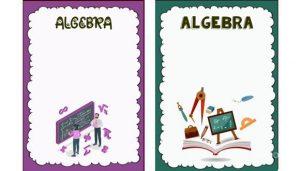 caratula para cuaderno de algebra