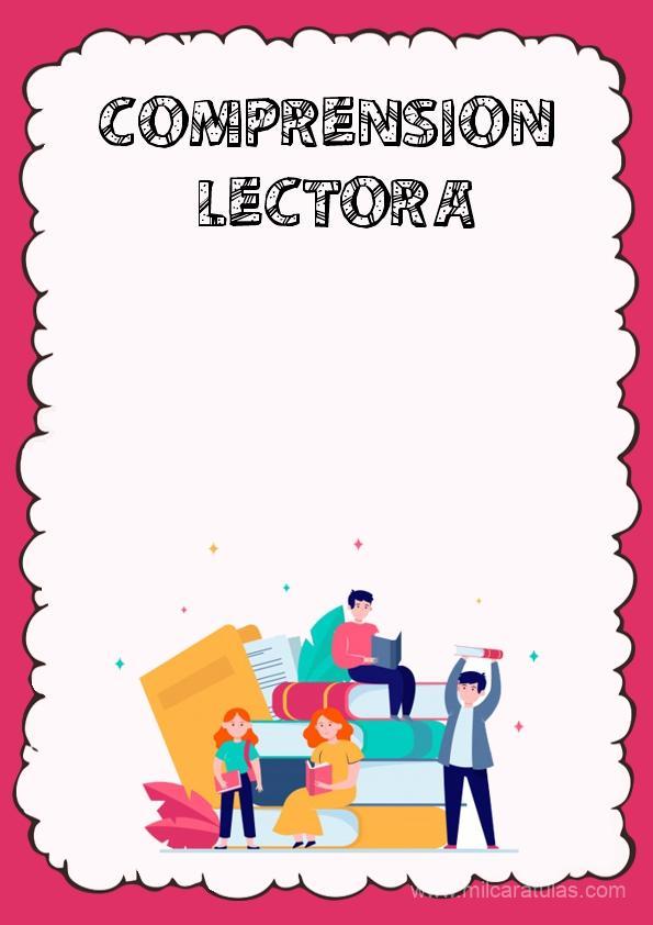caratula para cuaderno de comprension lectora 1