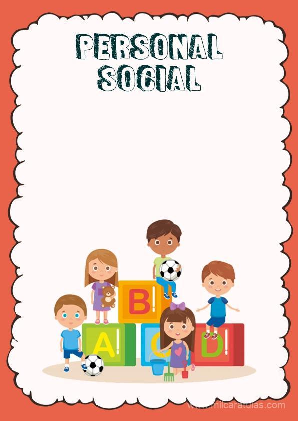 caratula para cuaderno de personal social