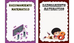caratula para cuaderno de razonamiento matematico