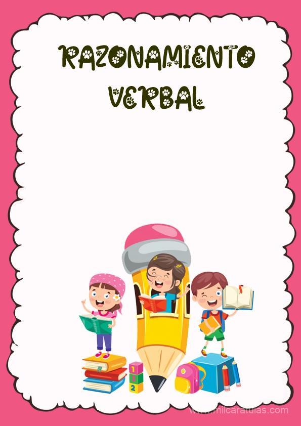 caratula para cuaderno de razonamiento verbal