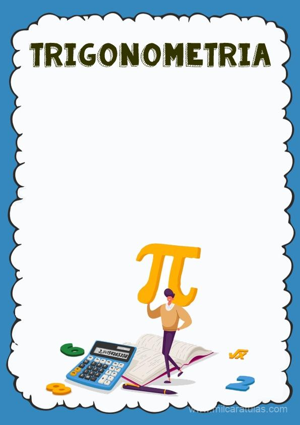 caratula para cuaderno de trigonometria