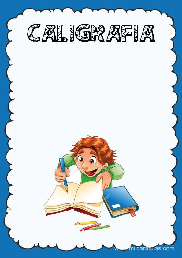 caratula para cuadernos