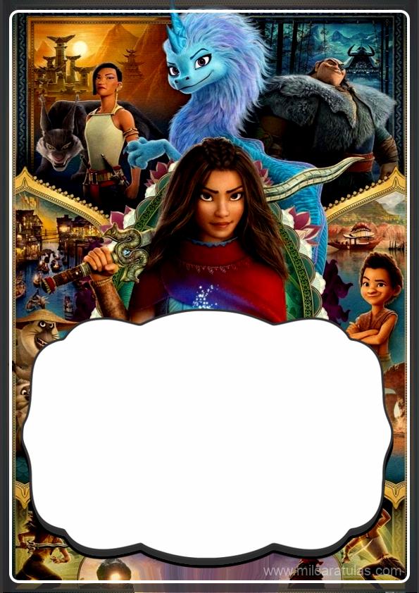 caratulas para cuaderno de Raya y el último dragón