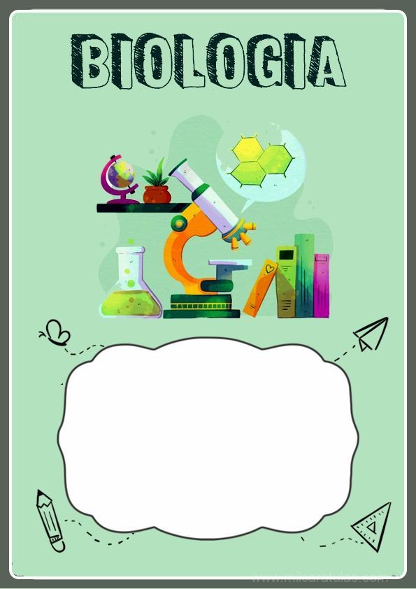 caratula para cuadernos de biologia