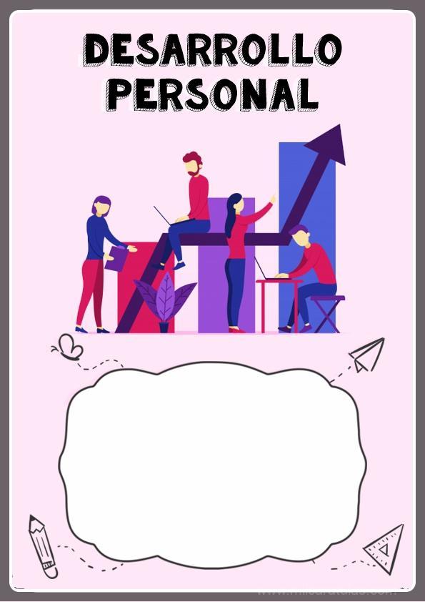 caratula para cuaderno de desarrollo personal