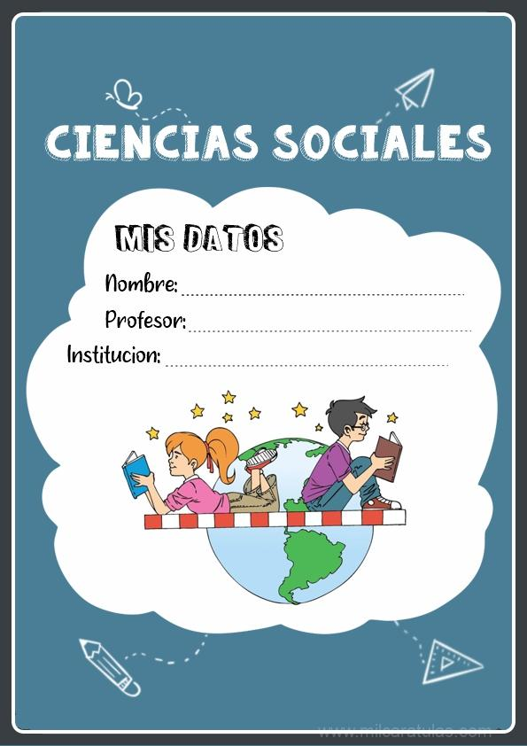 caratula para cuadernos de ciencias sociales