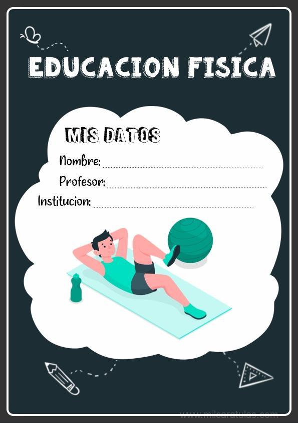 caratula para cuadernos de educación fisica