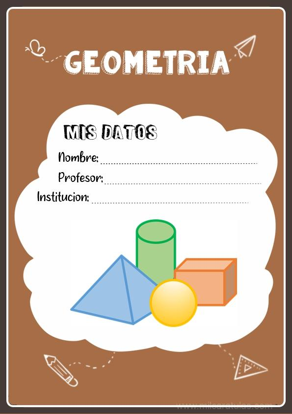 caratula para cuadernos de geometria