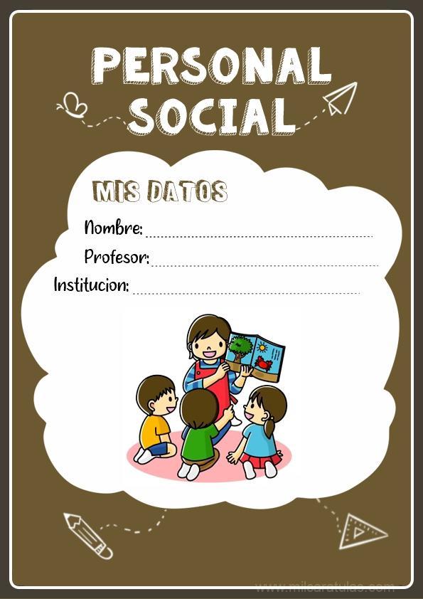 caratulas para cuadernos de personal social