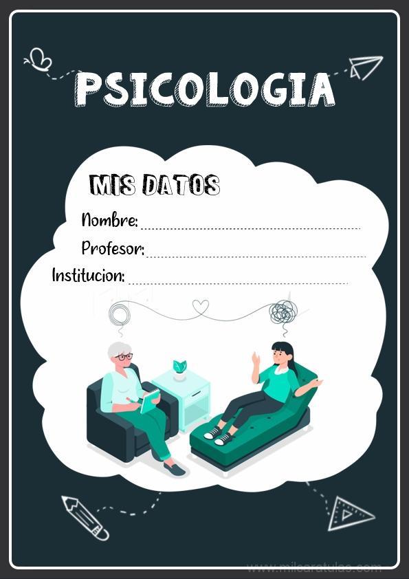 caratula para cuadernos de psicologia