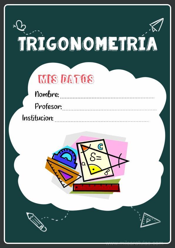 caratulas para cuadernos de trigonometria