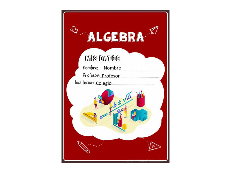 Caratula y Portada de Algebra en Word 6