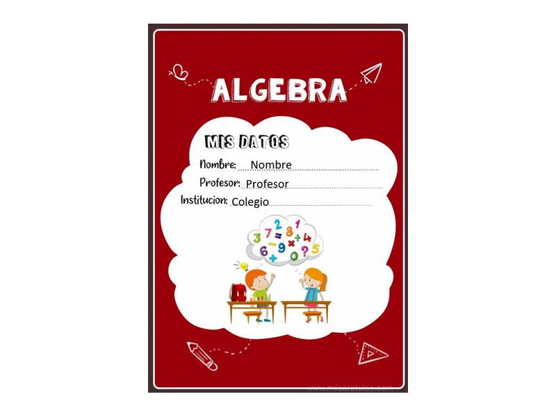 Caratula y Portada de Algebra en Word 7